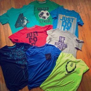 Boys athletic tshirt lot size large